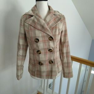 Old Navy plaid peacoat size xsmall